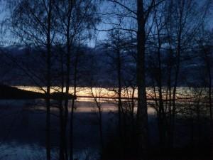 landet solnedgång